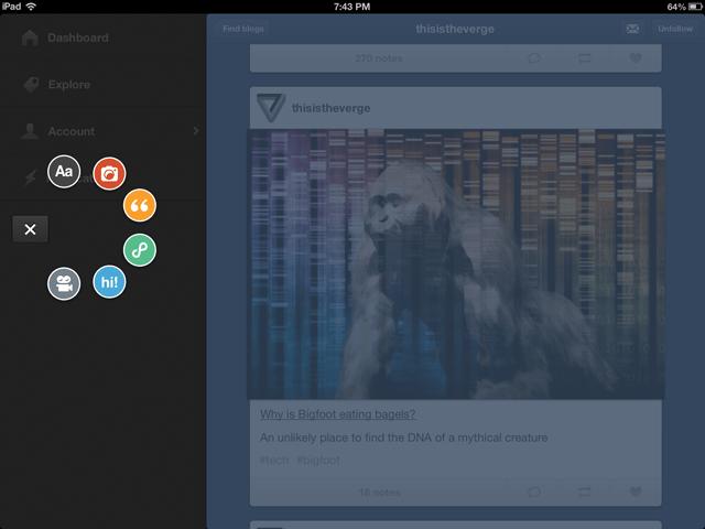 Tumblr iPad
